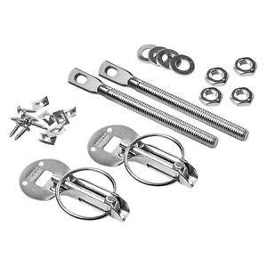 Sparco Stylish Silver Universal Hood Pin Kit Aluminum Cnc Billet Fit Any Car