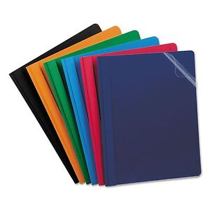 Oxford 55813 Clear Front Report Cover 3 Fasteners Letter Assorted Colors