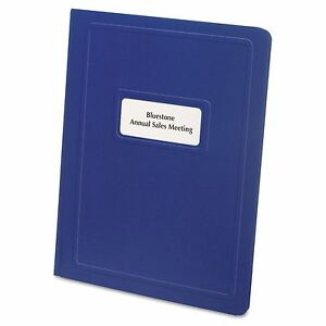 Oxford 58602 Report Cover Title Window 3 Fasteners Letter Royal Blue 25 box