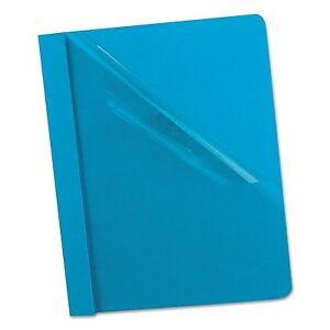 Oxford 55801 Clear Front Report Cover 3 Fasteners Letter 1 2 Capacity Blue
