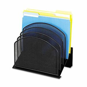 Safco 3257bl Mesh Desk Organizer Five tiered Sections Steel 11 1 4 X 7 1 8 X
