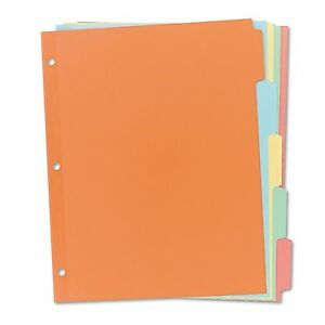 Avery 11508 Write on Plain tab Dividers 5 tab Letter 36 Sets