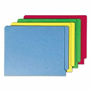 Smead 25013 Colored File Folders Straight Cut Reinforced End Tab Letter