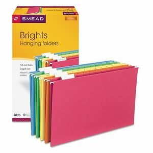 Smead 64159 Hanging File Folders 1 5 Tab 11 Point Stock Legal Assorted
