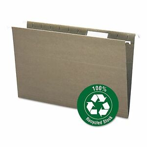 Smead 65061 Recycled Hanging File Folders 1 5 Tab 11 Point Stock Legal