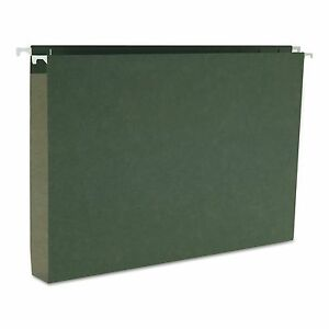 Smead 64339 One Inch Capacity Box Bottom Hanging File Folders Legal Green