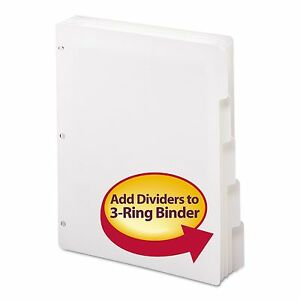 Smead 89415 Three ring Binder Index Divider 5 tab White