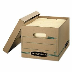 Bankers Box 1277601 Stor file Storage Box Letter legal Lift off Lid