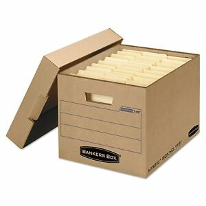 Bankers Box 7150001 Filing Storage Box With Locking Lid Letter legal Kraft