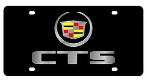 New Cadillac Cts Logo Acrylic License Plate