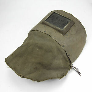 Vintage Welding Mask Shield Hood Helmet Cardboard Great Decoration Steampunk 1