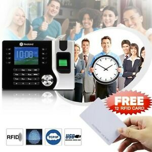 Realand Biometric Fingerprint Time Attendance Clock Tcp ip Usb 10pcs Rfid Card