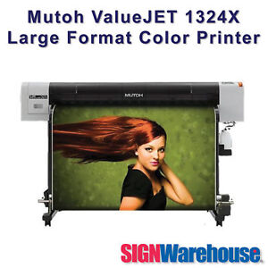 Mutoh Valuejet 1324x Large Format Color Printer Tops Roland Hp By Signwarehouse