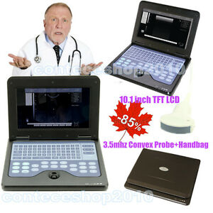 Portable Laptop Machine Digital Ultrasound Scanner 3 5mhz Convex Probe Contec