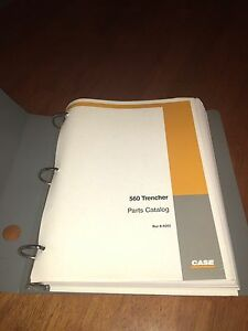Case 560 Trencher Parts Book Catalog Manual Notebook Issued 1999