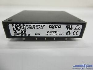Tyco Jahw075a1 75w Power Module In dc 36 75v 2 6a Out dc 5v 15a