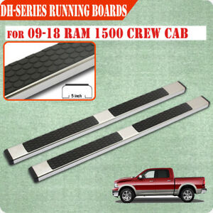 Fit 09 18 Dodge Ram 1500 Crew Cab 5 Running Boards Side Step Nerf Bar S s Dh