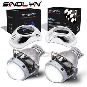 3 Bi Xenon Projector Lens D2s Kit With Shrouds For Headlight Retrofit Lhd Rhd
