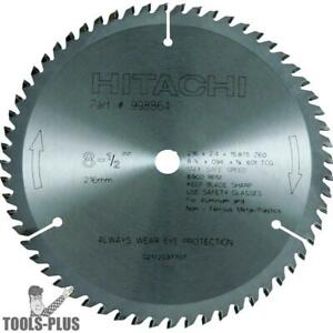 8 1 2 X 60 T Non ferrous Carbide Circular Saw Blade Hitachi 998864 New