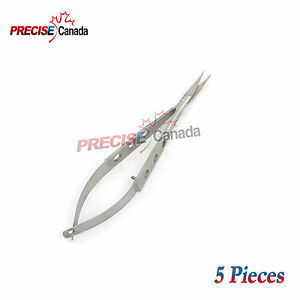 Or Grade 5 Castroviejo Micro Surgery Scissor 4 Curved Ophthalmology Surgical