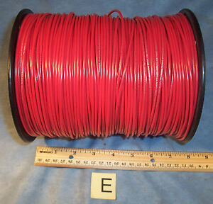 Lot E Red 16 Awg Simcona Insulated Electric Stranded Copper Wire Cable Spool 13