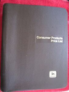 2002 John Deere Dealer Lawn utility Tractors consumer Products Price List Manual
