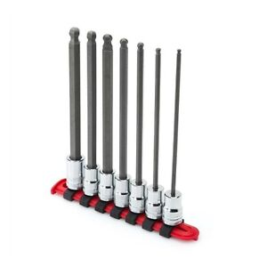 Husky 3 8 Inch Drive Metric Long Ball Hex Bit Socket Set 7 Piece 6 Point Tool