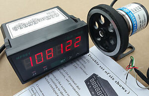 8 Inch Length Wheel Encoder Support Counter Grating 1 Display Meter