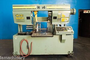 Hyd Mech Automatic Horizontal Metal Cutting Band Saw 14 X 14 1999