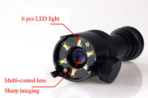 Portable Microscope 50x With Led Light Reticle For Jade Jewelry Identification