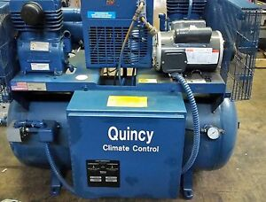 Quincy Duplex Building Control Air Compressor Package Model Qc01006d