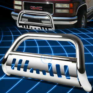 Chrome Front Bumper Bull Bar Grille Guard For 1988 2000 Silverado C K C10 Truck