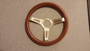 Authentic Rare Nardi Classic Wood Grain Gold Plated Steering Wheel Jdm Italy