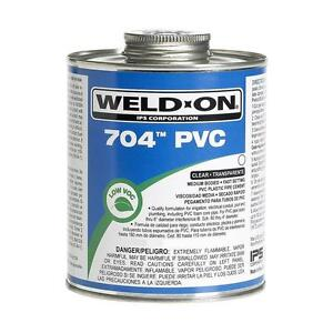 Case Of 24 Weld on Pvc 8 Oz Medium Pipe Cement In Clear Plumbing Irrigation