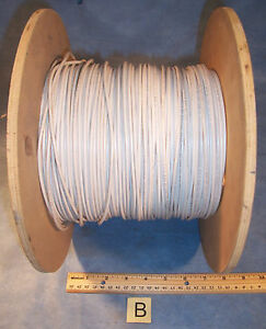 Lot B White 14 Awg Simcona Insulated Electric Stranded Copper Wire Cable Spool