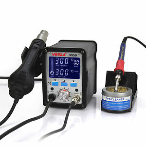 Us yihua 995d Lcd Smd Hot Air Rework Station With Soldering Station New 220v