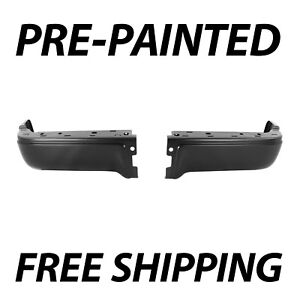 New Painted To Match Pair Of Steel Rear Bumper End Caps For 2009 2013 Ford F150
