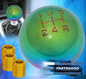 For Ford M8 M10 M12 Weighted Neo Chrome Shift Knob Round Ball Type Aluminum Set