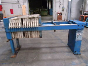 Lanco Environmental Products Hydraulic Filter Press Model 4 4 6a