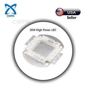 1pcs 20w High Power Led Chip Smd Ultraviolet uv Light Lamp Beads Buld 395 400nm