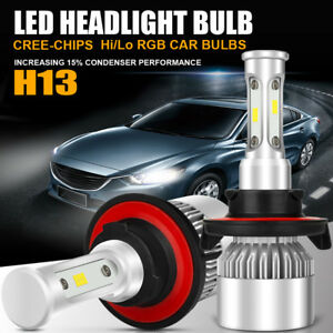 H13 252w 25200lm Cree Led Headlight Kit Light Hi Lo Beam Bulbs 6000k White Power
