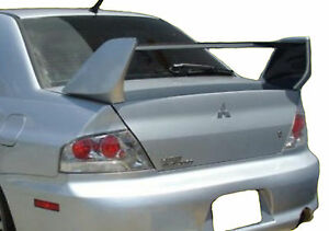 Mitsubishi Lancer Evo 8 Factory Style Unpainted Rear Wing Spoiler 2003 2006