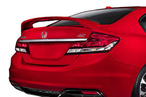 Painted Rear Wing Spoiler For A Honda Civic Si 4 Door Factory Style 2013 2015