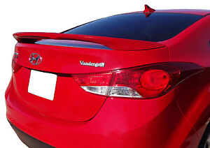 Painted To Match Rear Wing Spoiler For A Hyundai Elantra Factory Style 2011 2016
