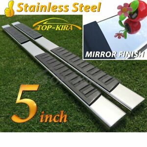 Fit 07 19 Silverado Sierra 1500 Double Extended Cab 5 Nerf Bar Running Boards H