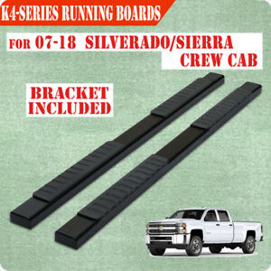 Fit 07 18 Silverado 1500 Crew Cab 4 Running Board Nerf Bar Side Bar Side Step H