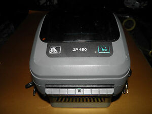 Zebra Zp 450 Direct Thermal Label Printer Power And Serial And Usb Only