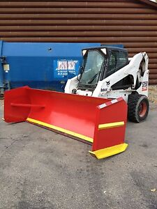 Pro tech 07 Snow Pusher Box Plow Mini Loader 10 Ft Bobcat Easy On Off Connection