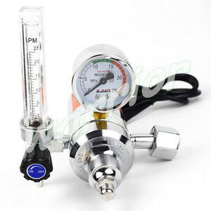 Ac 36v Co2 Regulator Gas Heater Flow Meter For Mig Welding Machine Gas Pressure