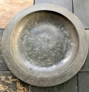 Large 14 75 Deep Dish Pewter Charger Circa Late 18th Century To 1820 S